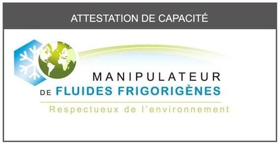 Habilitation froid et climatisation Attestation capacité LTC Service fluide frigorigène